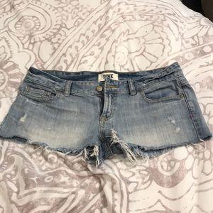 PINK Victoria's Secret Jean Shorts S4